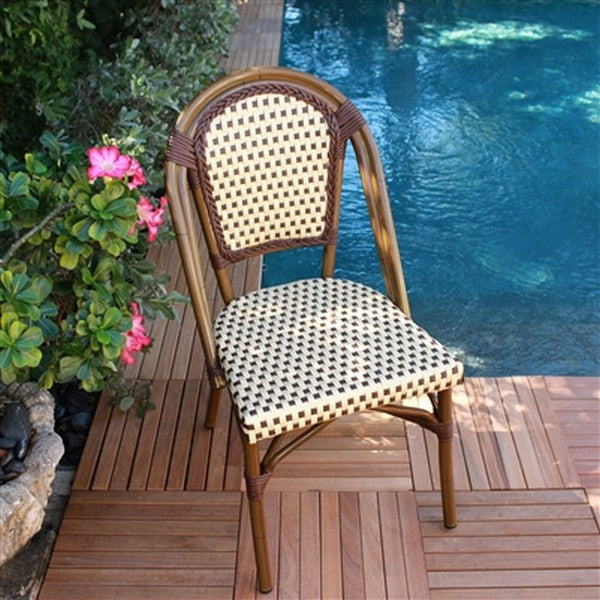 FRENCH Bistro Stacking Chair SAINT TROPEZ - Set of 6 (Brown)