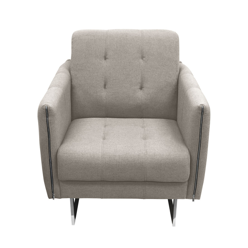 Hampton Accent Chair in Sandstone Fabric