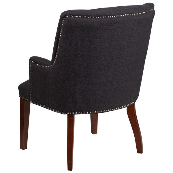Hercules Sculpted Comfort Series Black Fabric Side Chair