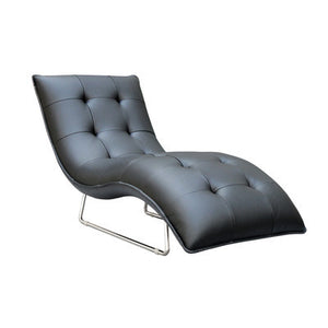Hill Living Grain Leather Chaise Lounge