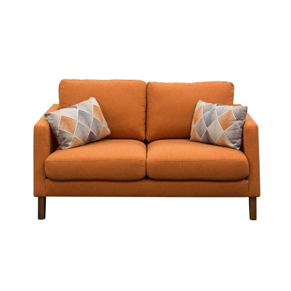 Keppel Solid Fabric Loveseat
