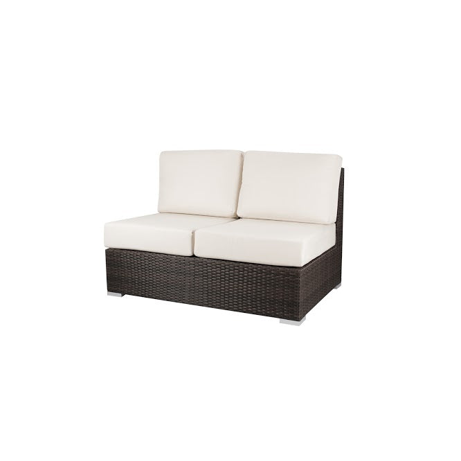 Lucaya Armless Loveseat in Espresso