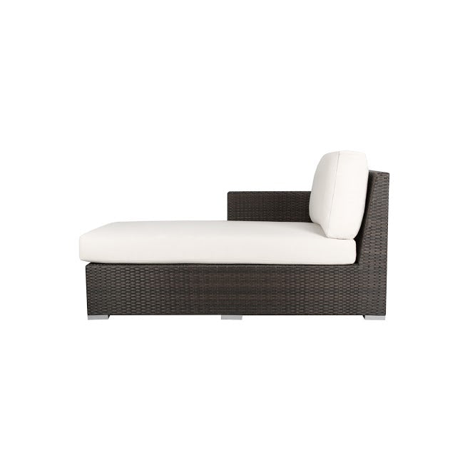 Lucaya Left Arm Chaise in Espresso