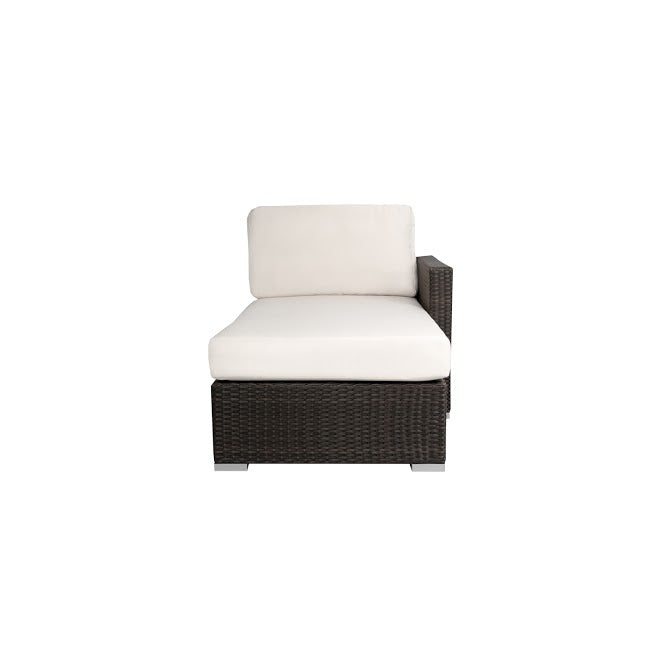 Lucaya Right Arm Chaise in Espresso