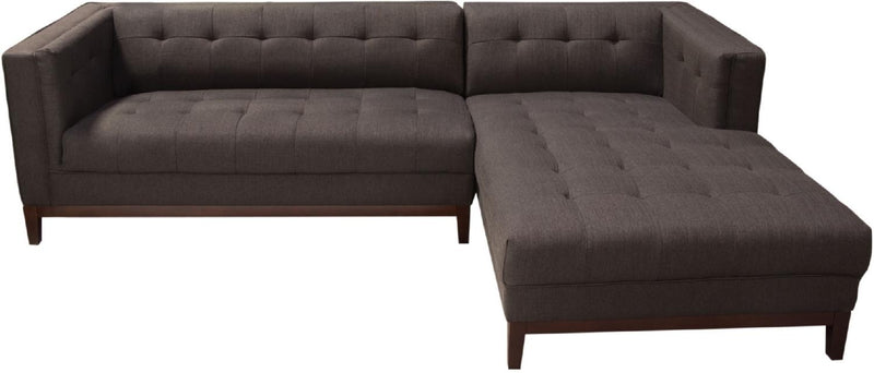 Manhattan RF 2-Piece Fabric Sectional - Brown