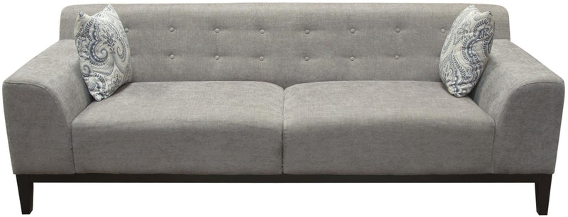 Marquee Tufted Back Fabric Sofa - Moonstone