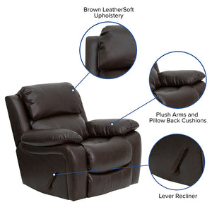 Flash Furniture Contemporary Leather Rocker Recliner
