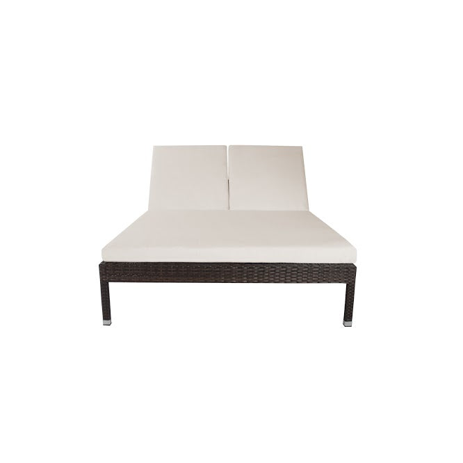 Manhattan Armless Double Chaise in Espresso