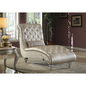 Marquee Leather Chaise Lounge