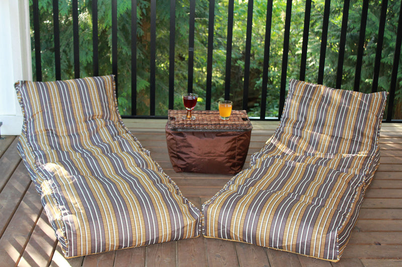 Chic Bean Bag Lounger Set