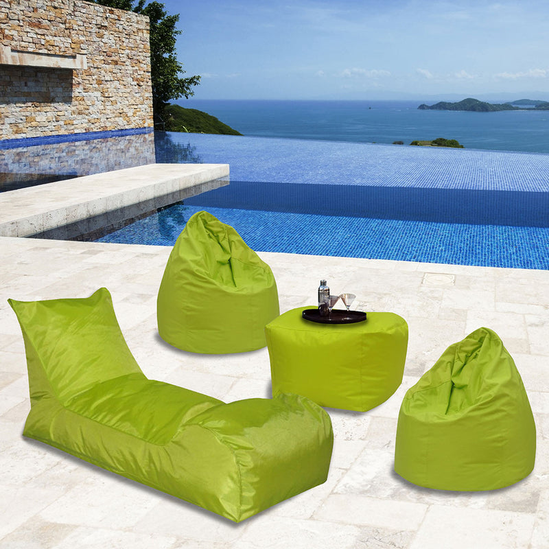 Summer Days Bean Bag Chaise Lounger Patio Set - 4 Piece Set