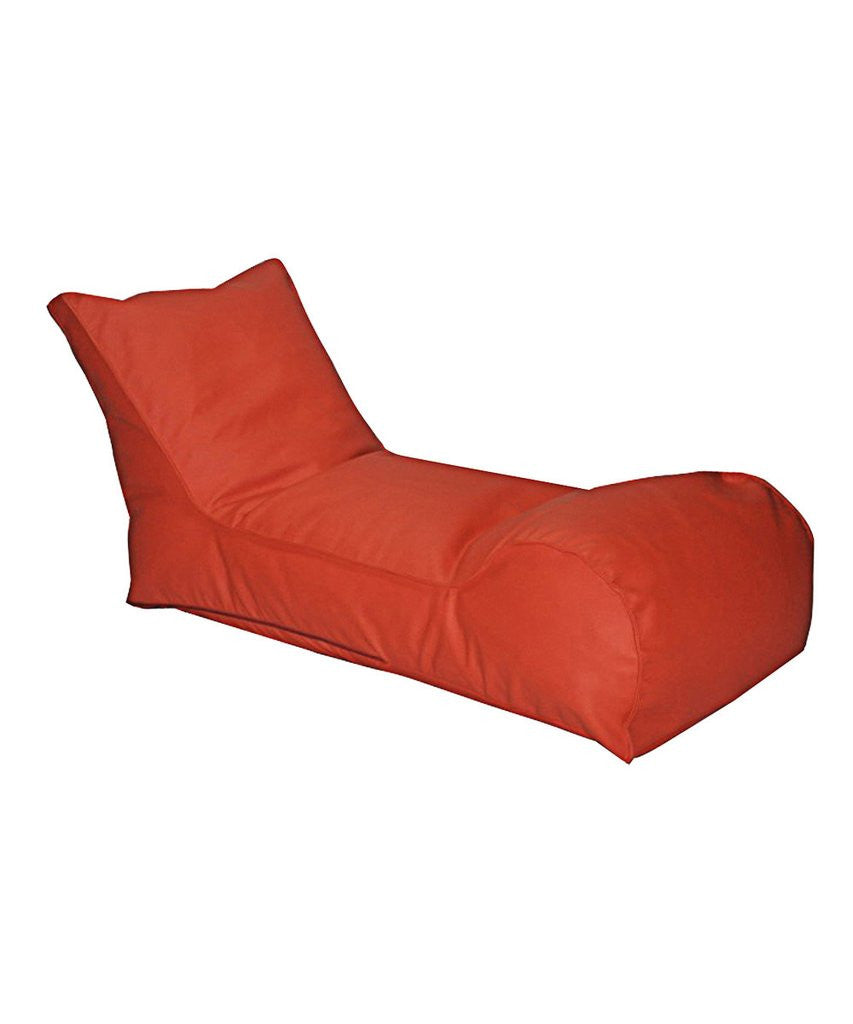 The Chillaxer Bean Bag Chaise Lounger Chair – Orange