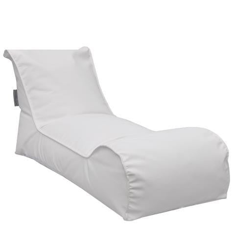 The Chillaxer Bean Bag Chaise Lounge Chair – White