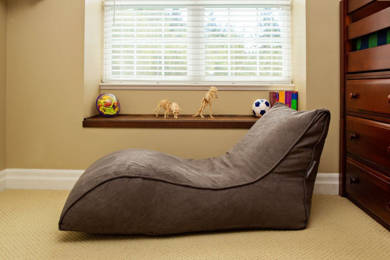 The Slacker Bean Bag Chaise Chair - Grey