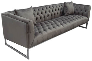 Diamond Sofa Contemporary Crawford Tufted Sofa and Chair Set