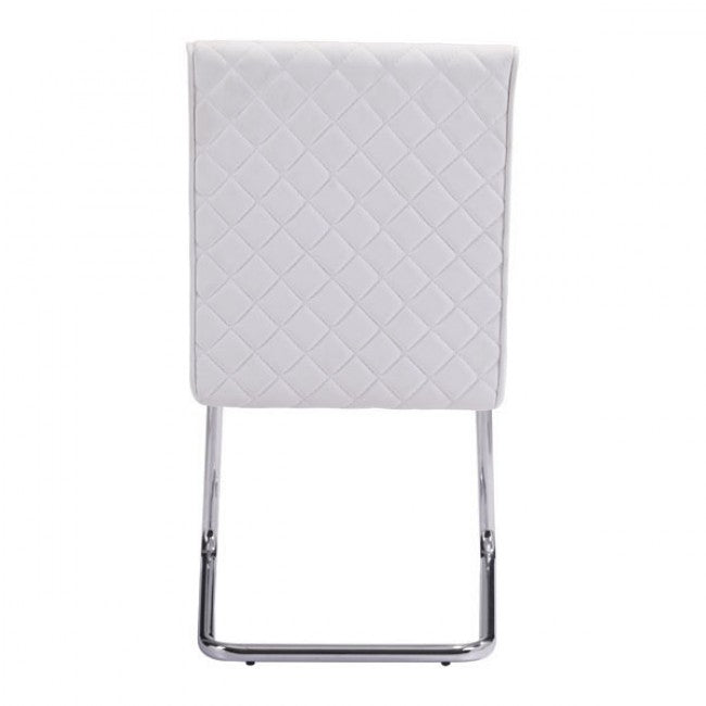 Quilt Armless Dining Chair - White