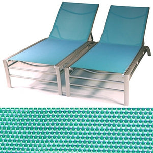 Regatta Stacking Sun Lounger with 5 Position Backrest in Green (Set of 2)
