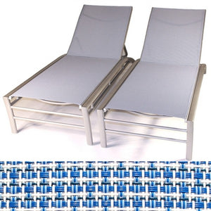 Regatta Stacking Sun Lounger with 5 Position Backrest in Seabreeze (Set of 2)
