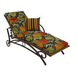 Resin Wicker Multi-Position Chaise Lounge Recliner