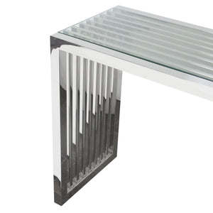Diamond Sofa Soho Rectangular Stainless Steel Console Table