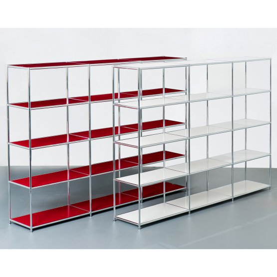 SYSTEM4 Open Bookshelves with 12 Shelves (Pure Orange)
