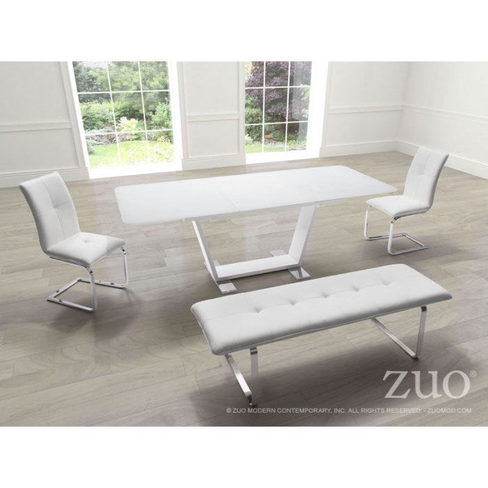 St. Charles Extension Dining Table - White
