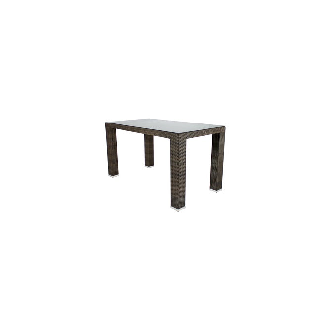 St Tropez Bar Table - Seats 6 (Rectangular) in Espresso