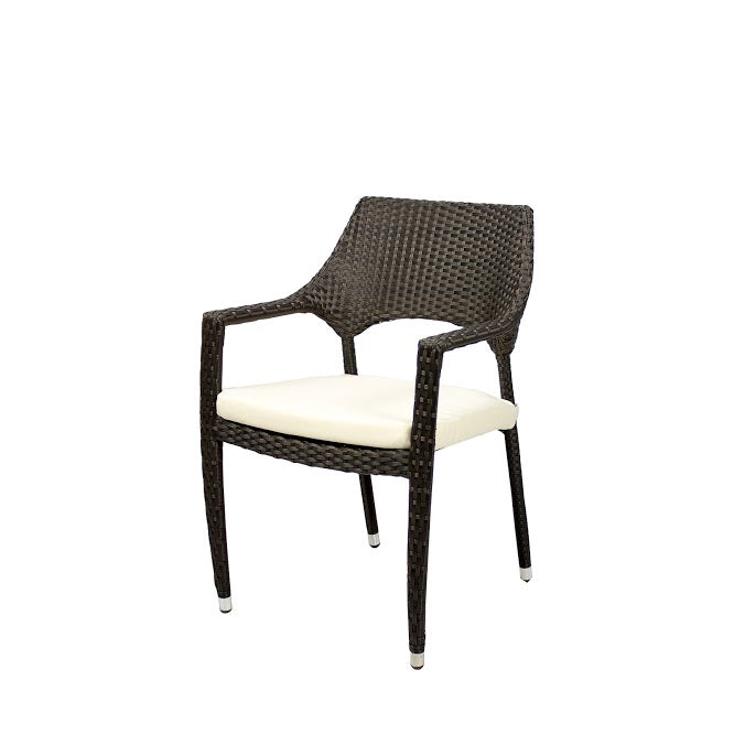 Tuscanna Dining Arm Chair in Espresso (Set of 2)