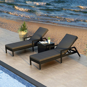 Urbana 3 Piece Lounge Seating Group with Cushion