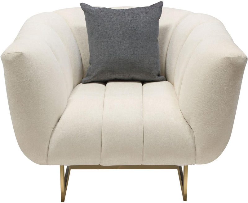 Venus Sofa and Chair Set in Cream