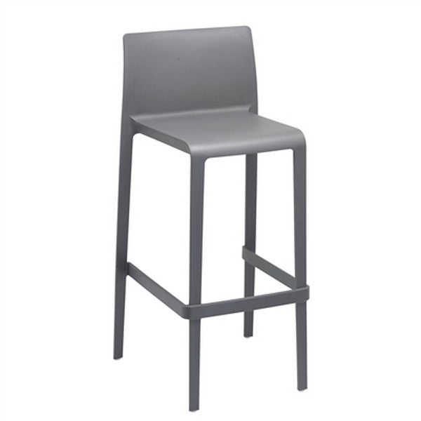 VOLT Patio or Indoor Stacking Barstool 2-pack - Gray