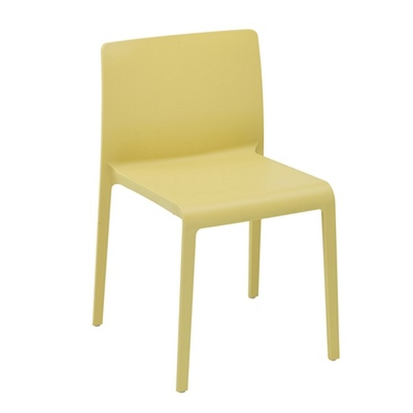 VOLT Patio or Indoor Stacking Dining Chair (4-pack) - Yellow