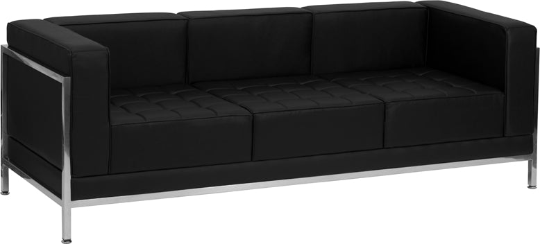 HERCULES Imagination Series Contemporary Black Leather Sofa – eChaise