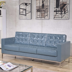 Flash Furniture Hercules Lacey Series Contemporary Leather Sofa