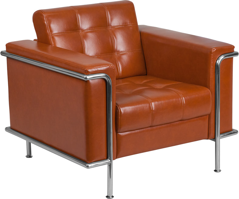 Hercules Lesley Series Contemporary Leather Chair