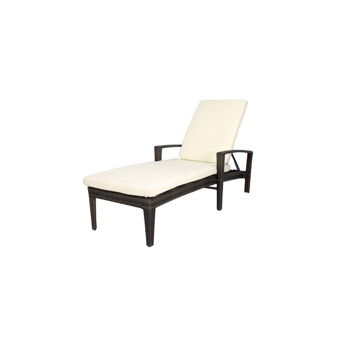 Source Outdoor Zen Chaise in Espresso