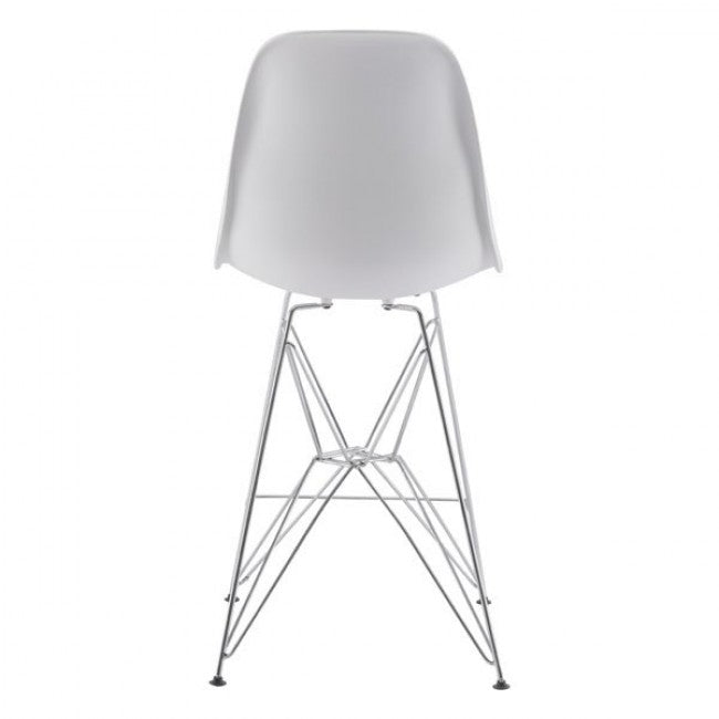 Zip Counter Chair - White