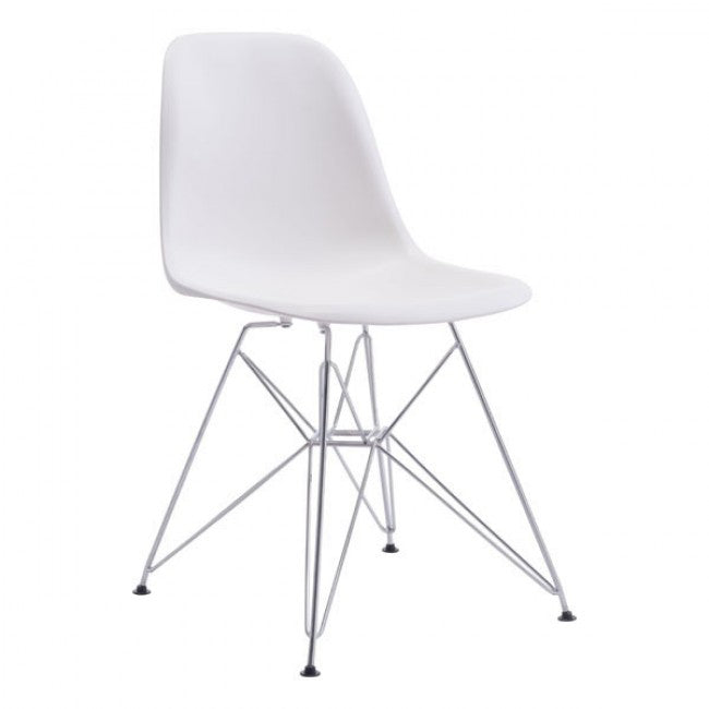 Zip Dining Chair - White