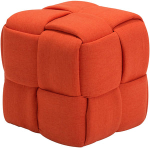 Zuo Modern Checks Fabric Stool