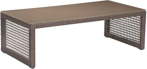 Zuo Modern Coronado Indoor/Outdoor Coffee Table in Cocoa