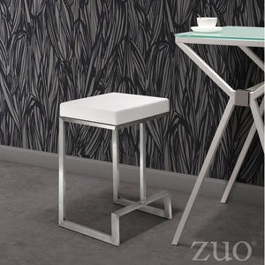 Zuo Modern Darwen Steel Counter Stool (Set of 2)
