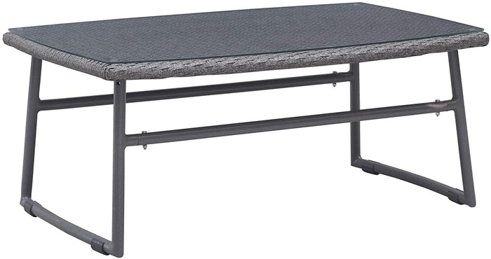 Zuo Modern Ingonish Beach Indoor/Outdoor Rectangular Gray Coffee Table