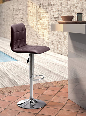Zuo Modern Oxygen Height-Adjustable Tufted Leatherette Bar Chair