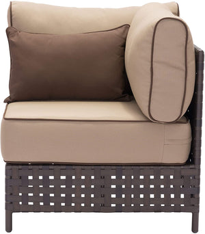 Zuo Modern Pinery Indoor/Outdoor Brown & Beige Corner Chair