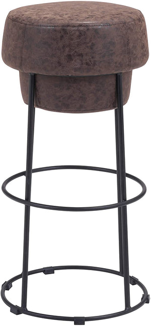 Zuo Modern Pop Natural & Black Leatherette Bar Stool