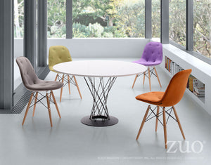 Zuo Modern Probability Orange Polyester Dining Chair