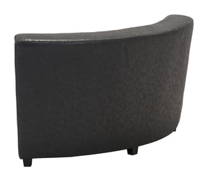 Zuo Modern Soho Vintage Black Leatherette Corner Chair