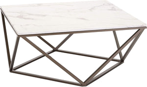 Zuo Modern Tintern White & Antique Brass Coffee Table