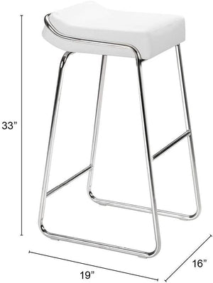 Zuo Modern Wedge Leatherette Barstool (Set of 2)