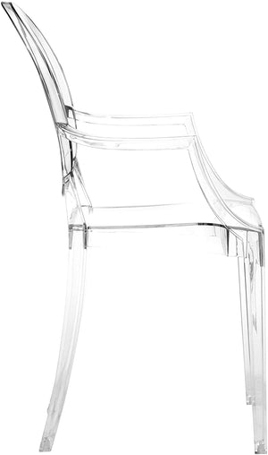 Zuo Modern Anime Clear Indoor/Outdoor Dining Chair (Set of 4)